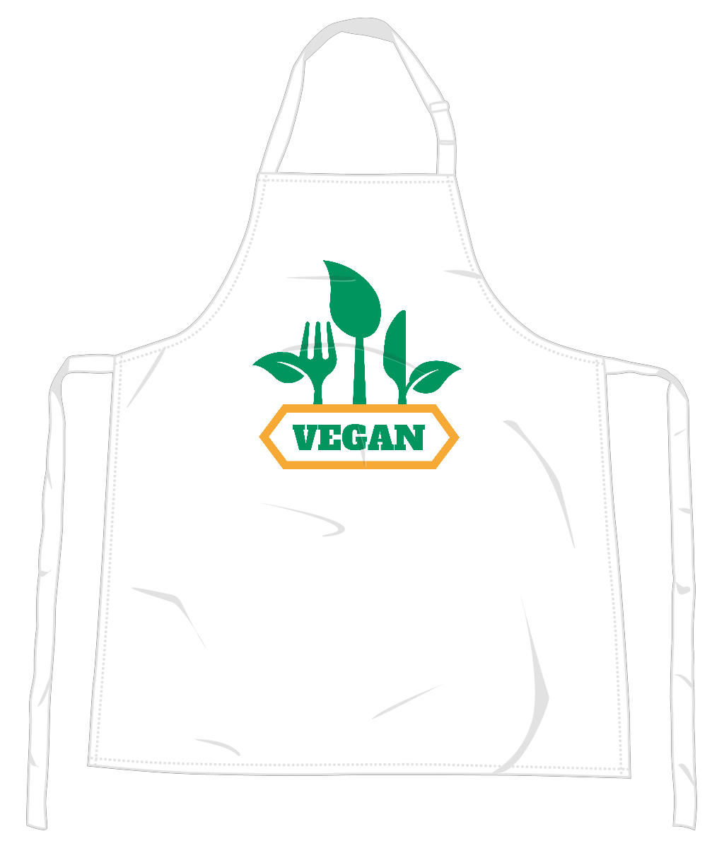 Vegan Fork and Knife Apron 0059 - Accessories & Homeware - EchoWears T-Shirts & Accessories
