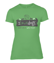 I Love Dogs - Dogue De Bordeaux Ladies Fitted T-Shirt 0044 - Clothing - EchoWears T-Shirts & Accessories