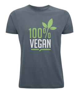 100% Vegan Leaf Mens T-Shirt 0061 - Clothing - EchoWears T-Shirts & Accessories