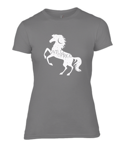 Wild & Free Ladies Fitted T-Shirt 0011 - Clothing - EchoWears T-Shirts & Accessories