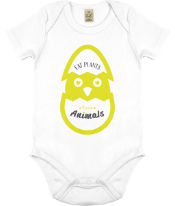 Eat Plants Love Animals Vegan Childrens Babygrow 0036 - Clothing - EchoWears T-Shirts & Accessories