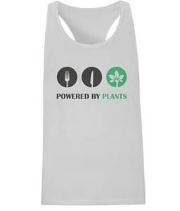 Powered by Plants Mens Racerback Vest T-Shirt 0003 - Clothing - EchoWears T-Shirts & Accessories