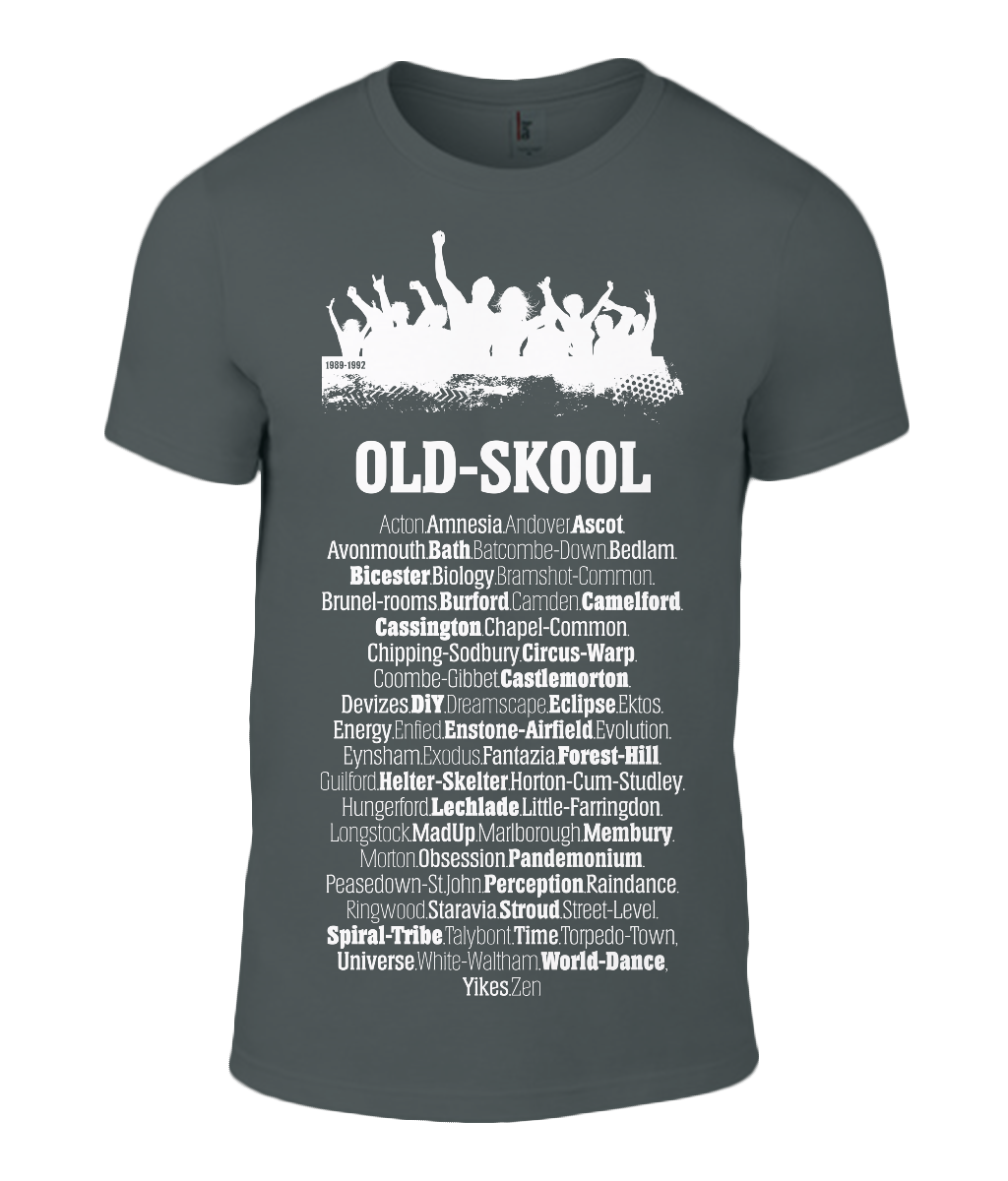 Old Skool Rave Mens Fashion T-Shirt 0046 - Clothing - EchoWears T-Shirts & Accessories