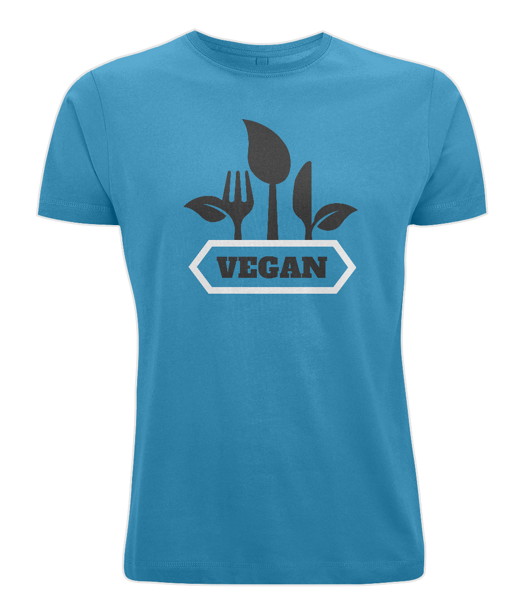 Vegan Fork & Knives Mens Vegan T-Shirt 0059 - Clothing - EchoWears T-Shirts & Accessories