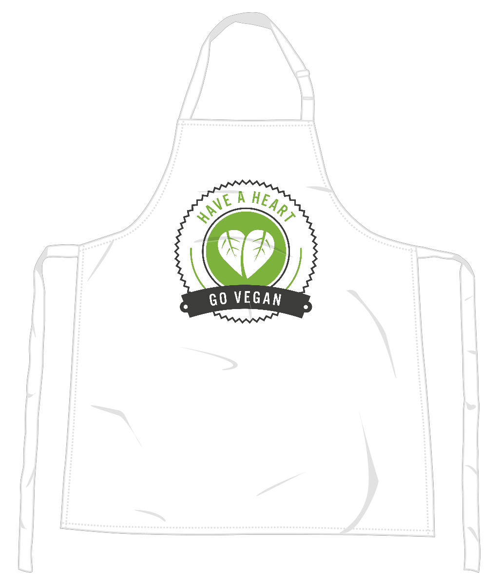 Go Vegan Have a Heart Apron 0054 - Accessories & Homeware - EchoWears T-Shirts & Accessories