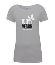 100% Vegan Leaf Ladies Fitted T-Shirt 0061 - Clothing - EchoWears T-Shirts & Accessories