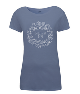 Intelligent Diet Vegan Ladies Fitted T-Shirt 0062 - Clothing - EchoWears T-Shirts & Accessories