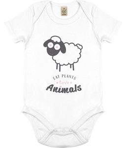 Eat Plants Love Animals Childrens Vegan Babygrow T-shirt 0005 - Clothing - EchoWears T-Shirts & Accessories