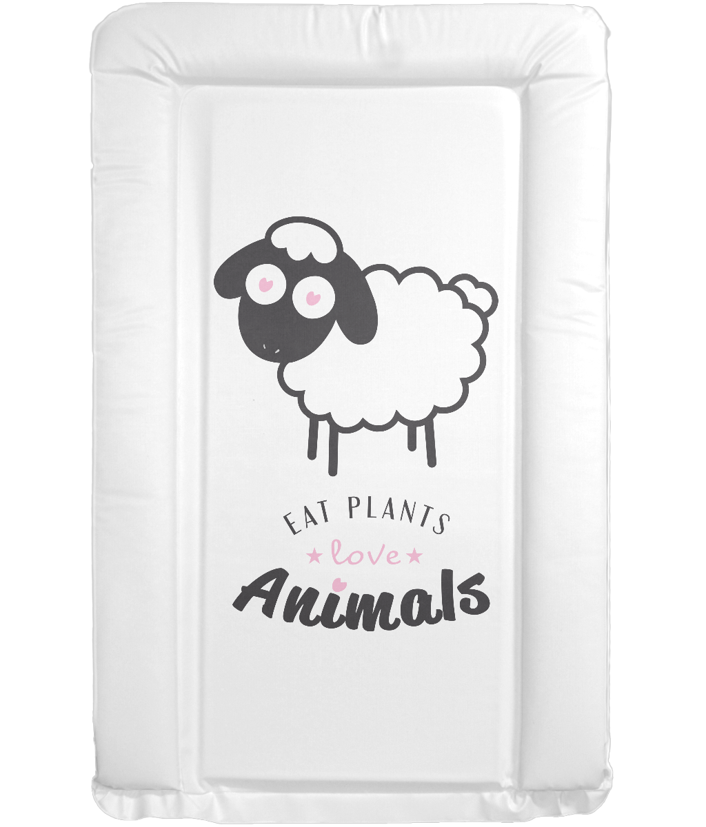 Eat Plants Love Animals Sheep PVC Changing Mat 0005 - Accessories & Homeware - EchoWears T-Shirts & Accessories