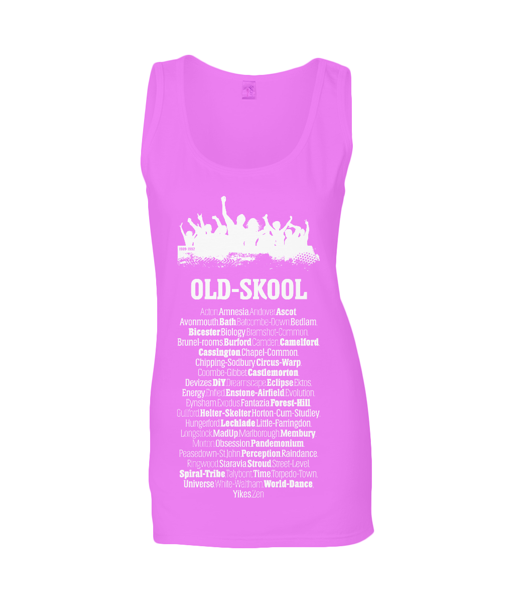 Old Skool Rave Ladies Tank Top T-shirt 0046 - Clothing - EchoWears T-Shirts & Accessories