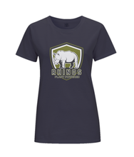 Rhino Plant Powered Ladies Fitted Vegan T-shirt 0085 - Clothing - EchoWears T-Shirts & Accessories