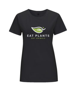 Eat Plants Not Animals Ladies Fitted Vegan T-Shirt 0088 - Clothing - EchoWears T-Shirts & Accessories