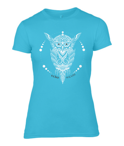 Geometric Owl Ladies Fitted T-Shirt 0025 - Clothing - EchoWears T-Shirts & Accessories