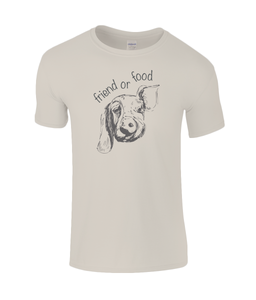 Friend or Food Childrens Vegan T-Shirt 0070 - Clothing - EchoWears T-Shirts & Accessories
