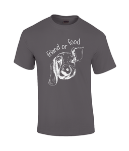 Friend or Food Mens Vegan T-Shirt 0070 - Clothing - EchoWears T-Shirts & Accessories