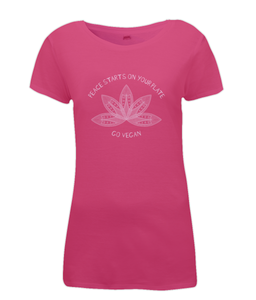 Peace Starts On Your Plate Ladies Vegan T-shirt 0071 - Clothing - EchoWears T-Shirts & Accessories