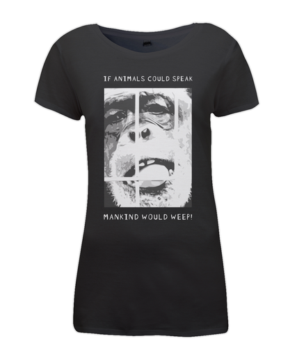 If Animals Could Speak Ladies Vegan T-Shirt 0074 - Clothing - EchoWears T-Shirts & Accessories