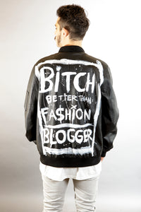 Eco leather jacket- Fashion Blogger