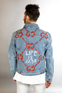 Denim jacket- Life is real