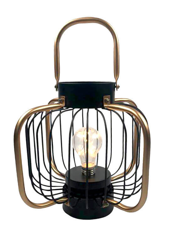 Serenity LED Lantern Black/Bronze Gold