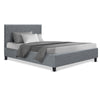 Artiss Single Size Bed Frame Base Mattress Platform Fabric Wooden Grey NEO