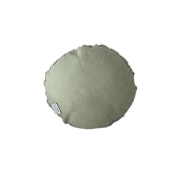 Round Linen Cushion - Light Mint Green