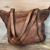 Sierra Leather Tote - Tan