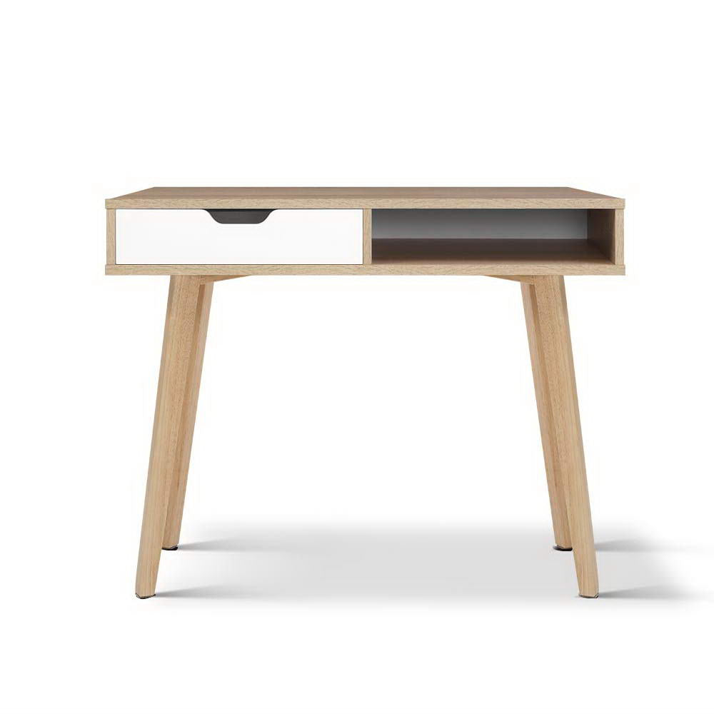 Scandi desk- Natural & White