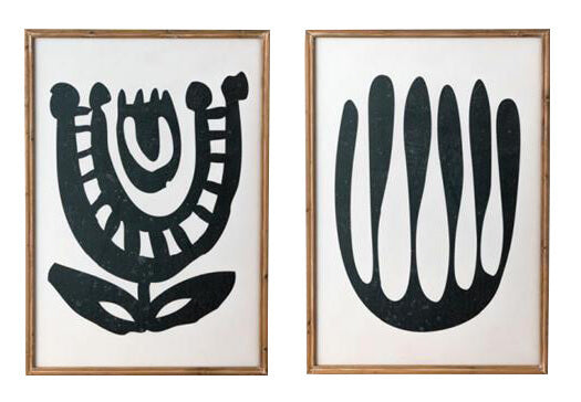 Framed Artwork Tribal Flowers - Set.  IN STORE ONLY