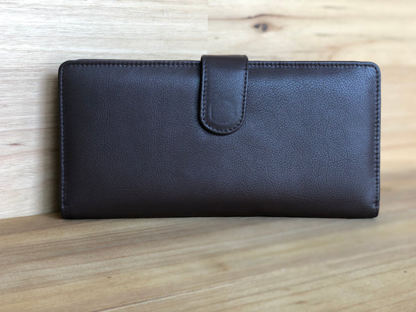 Executive Leather Travel Wallet - Brown