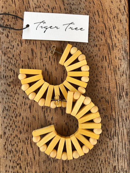 Tiger Tree - Ark Hoop Earrings.