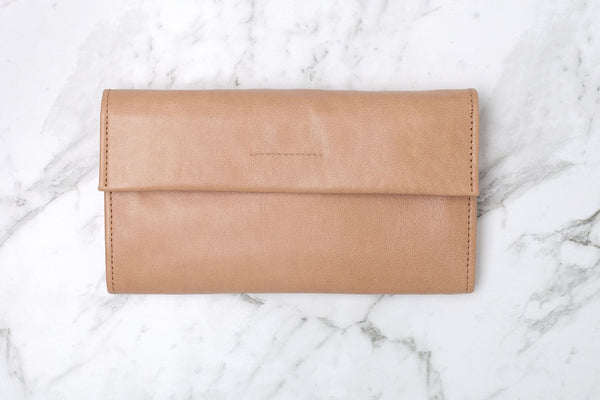 Arlo Leather Wallet - Biscuit