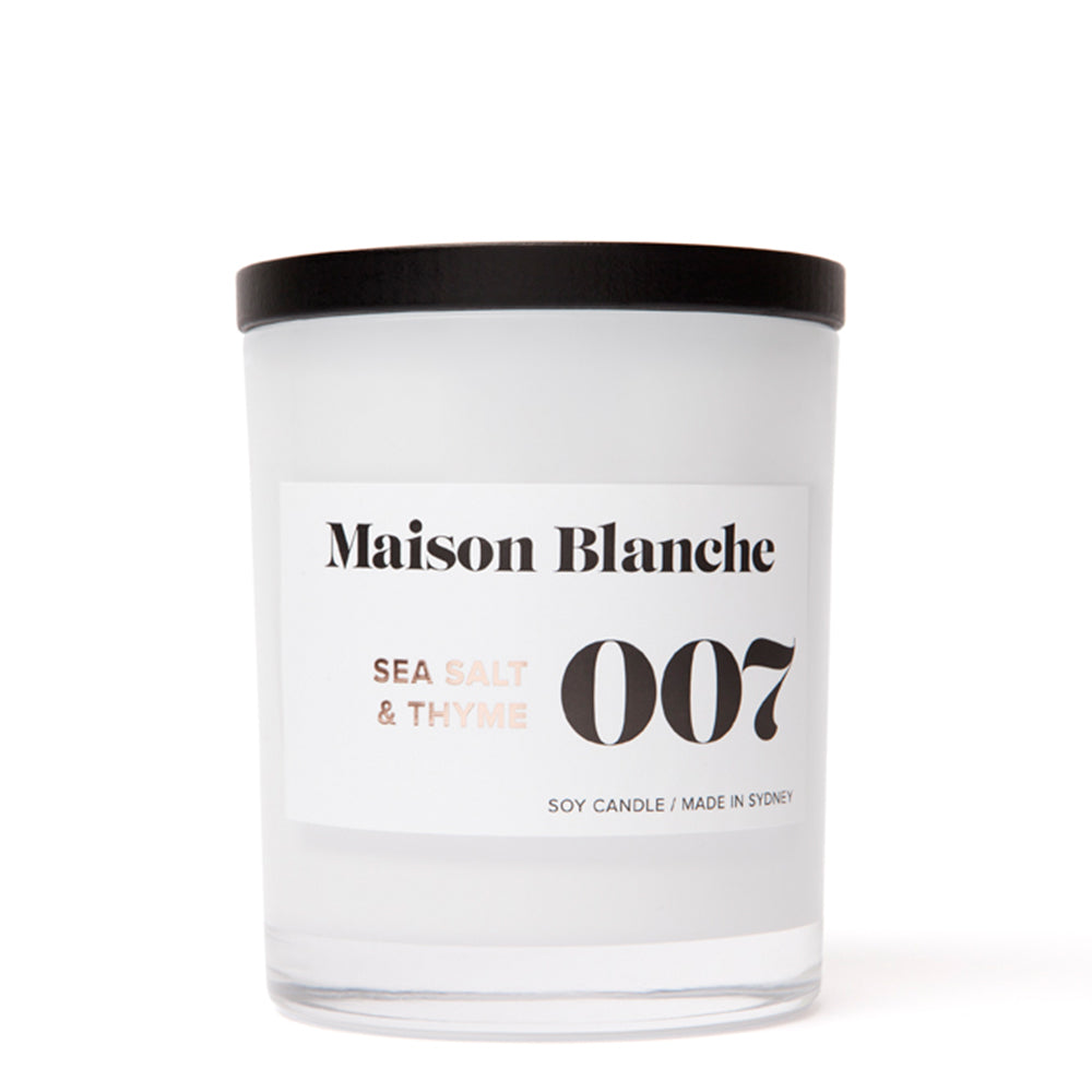 Maison Blanche - 007 Sea Salt & Thyme - Large Candle