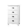 4 Draw Vintage Bedside Table - White