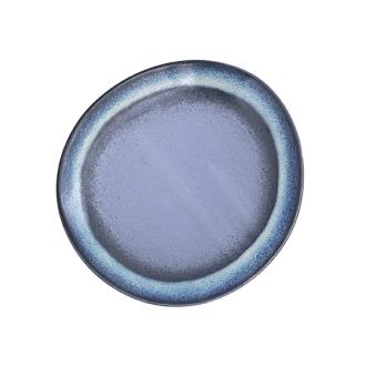 70's Ceramic Side Plate - Blue