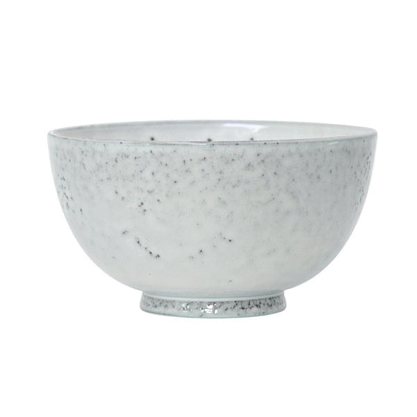 HK Living Ceramic Dessert Bowl -  Natural White