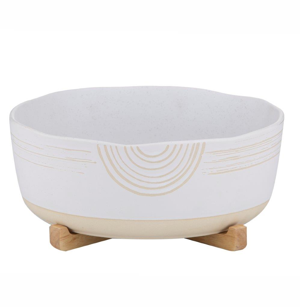 Mojave Serving Bowl on Stand - Large