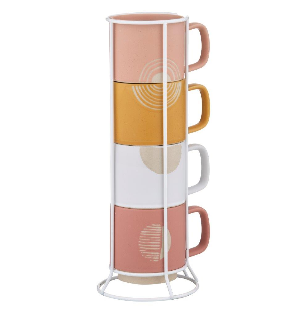 Mojave Mug with Rack - Set Of 5