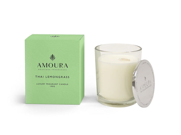 Amoura Candle - Thai Lemongrass - Unboxed