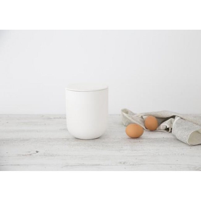 Ivory House Flax Ceramic Jar - White