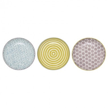 Bloomingville Patrizia plates - x 3 Assorted Colours