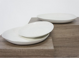Organic Textured Platter - Ceramic / White