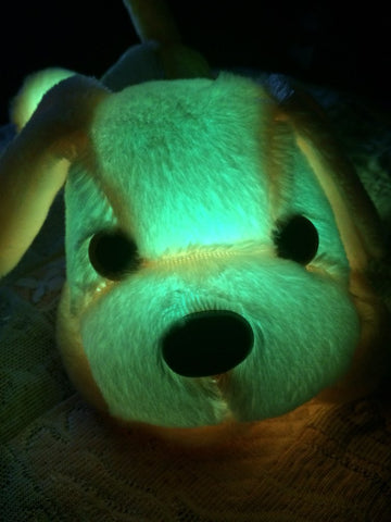 peluche lumineuse chien led