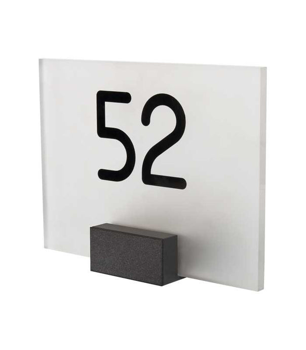 Claron LED lit house number sign