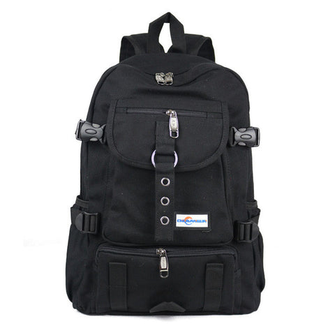 Arcuate Shoulder Strap Zipper Solid Casual Bagpack