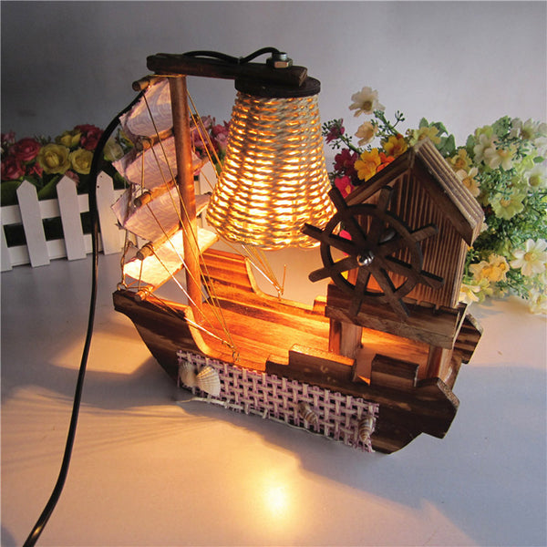 Surfing Boat Music Designer Table Lamp