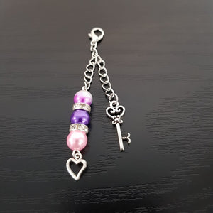 KEY TO MY HEART PINK PURPLE JAZZLE