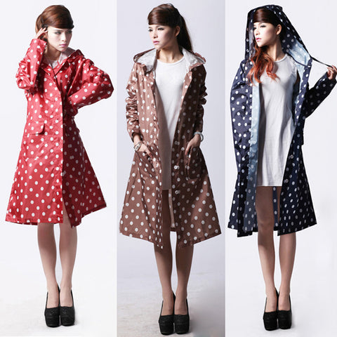 Women Dot Raincoat