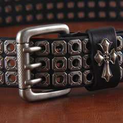 100% leather needle belt