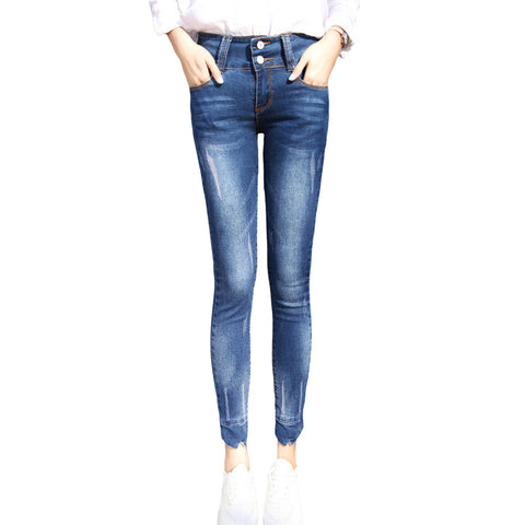 Korean style Regular Pencil jeans